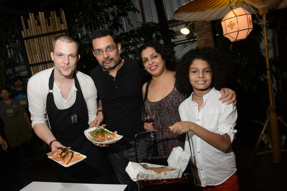 Chef Daniel Bucher and Khun Gavin Nazaret's Family