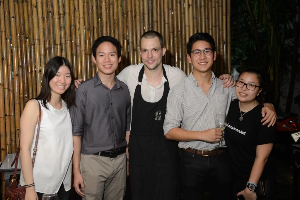 Tanya Sornthaiteva, Srifuengfung, Chef Daniel Bucher,  Jetnipat Phruttinarakorn
