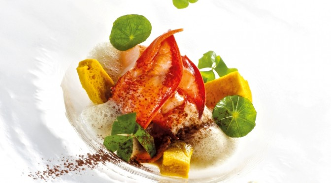 MOBKK-Brittany Lobster with Melon, Carrot, Yuzu, Ginger and  Coriander