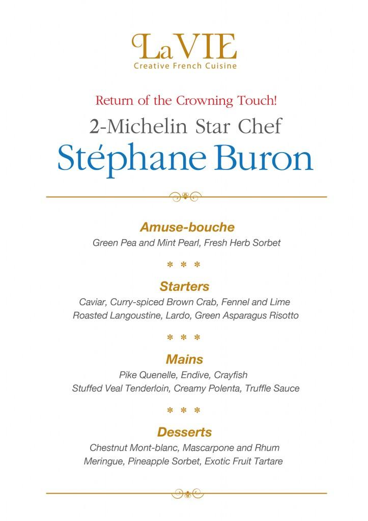 2-Michelin Star Chef Stéphane Buron (Menu P1)