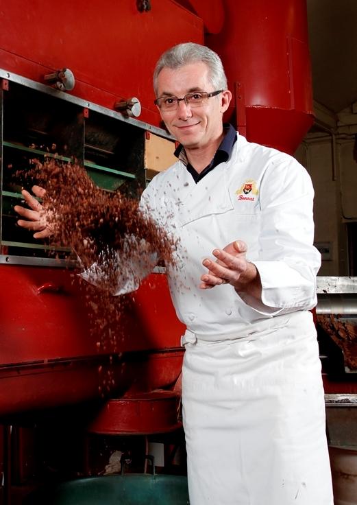 jeudi 19 janvier 2012 Stéphane Bonnat, Chocolatier à Voiron (France). Sylvain Frappat
