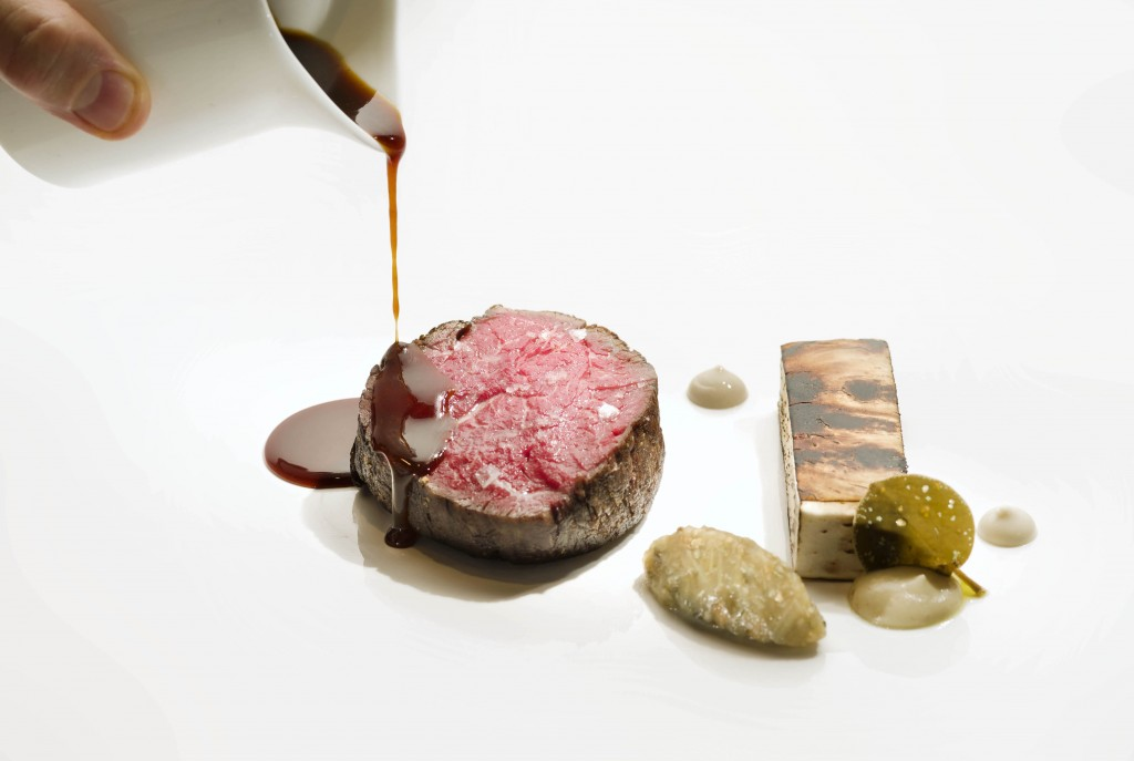 Wagyu beef tenderloin, smoked eggplant,colatura di alici