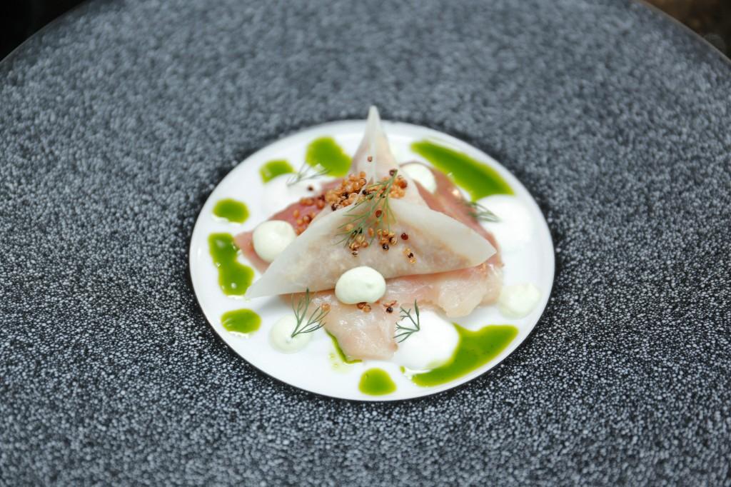 1 Hamachi, eel, dill and yogurt