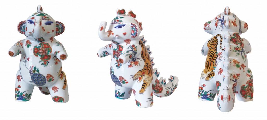 Elephant, Arita Porcelain, Shin Koyama