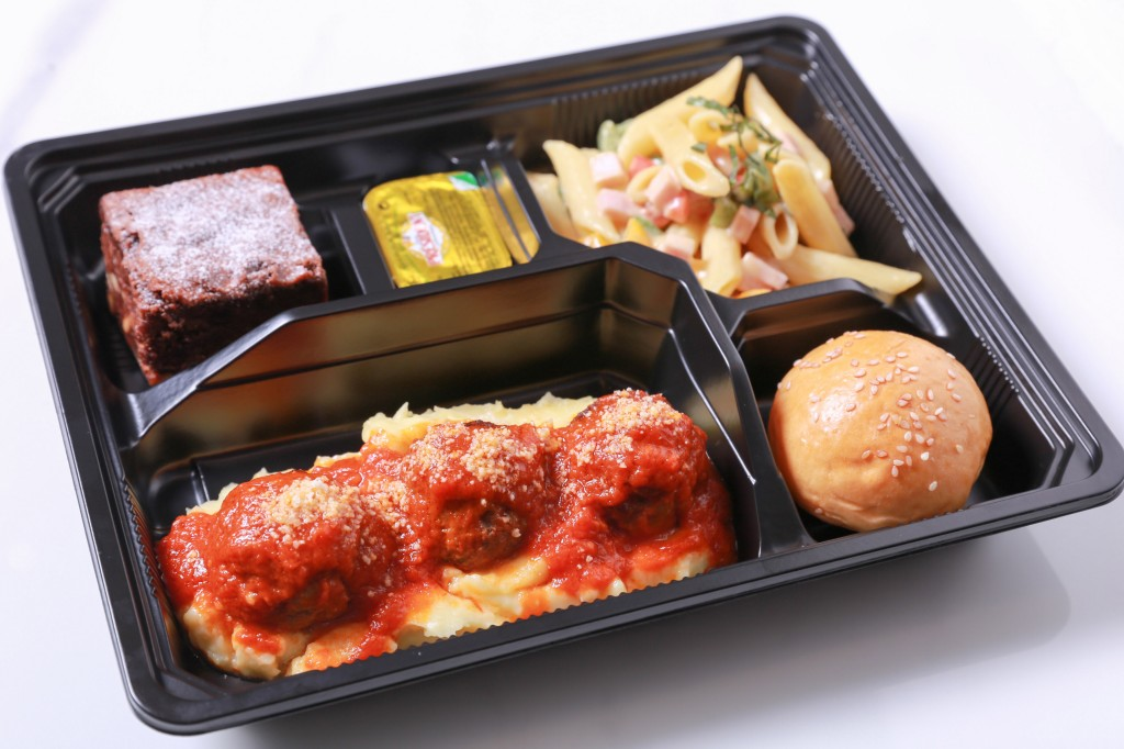 """""""Meat Ball and Pasta Salad"""" Box"""